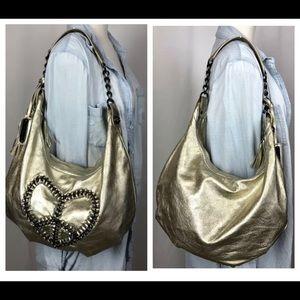 Betsey Johnson Hobo Purse Handbag Leather chain